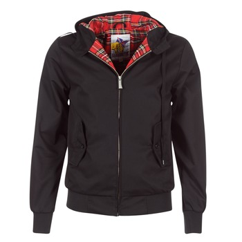 Clothing Men Jackets Harrington HARRINGTON HOODED Black