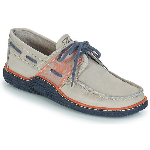 Shoes Men Boat shoes TBS GLOBEK Grey / Blue