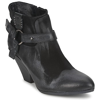 Shoes Women Shoe boots Strategia SANGLA Black / Silver