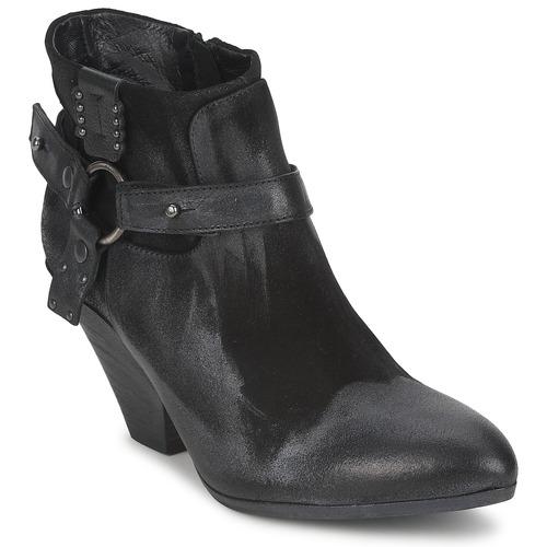 Shoes Women Shoe boots Strategia SANGLA Black / Silver