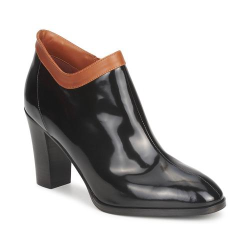 Shoes Women Shoe boots Sonia Rykiel 654802 Black / Ocre tan