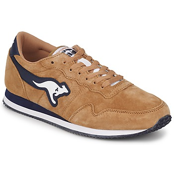 Shoes Men Low top trainers Kangaroos INVADER PIG SUEDE Dark / Wheat / Dark / Navy