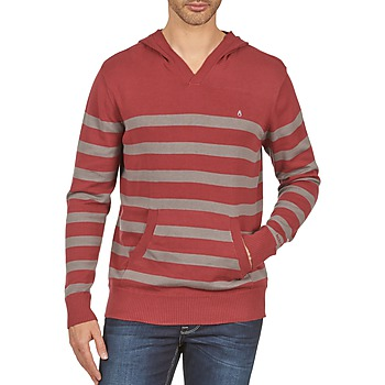 Clothing Men sweaters Nixon MCKOY SWEATER MEN'S Bordeaux