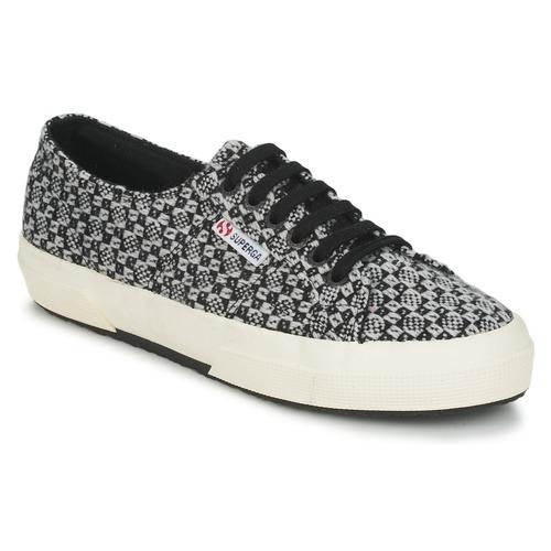 Shoes Women Low top trainers Superga 2750 FANTASY Black / White