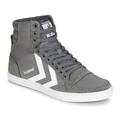 Shoes Hi top trainers Hummel TEN STAR HIGH Grey / White