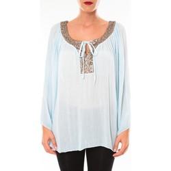 Clothing Women Tunics Tcqb Tunique TDI paillettes bleu ciel Blue