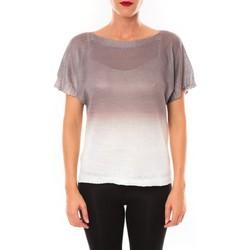 Clothing Women Short-sleeved t-shirts De Fil En Aiguille Top Carla marron Brown