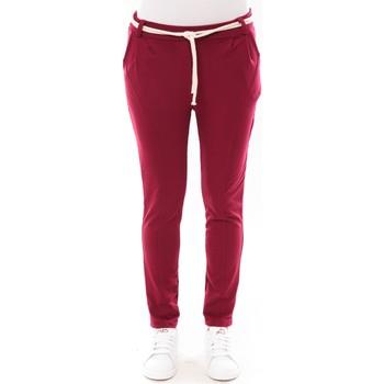 Clothing Women 5-pocket trousers De Fil En Aiguille Pantalon Sandra bordeaux Red