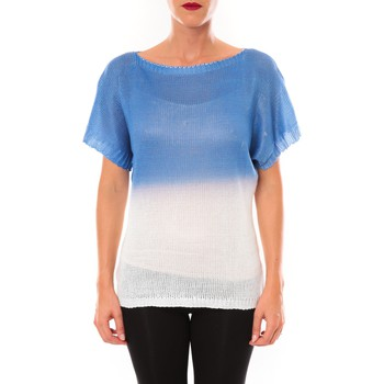 Clothing Women Short-sleeved t-shirts De Fil En Aiguille Top Carla bleu Blue