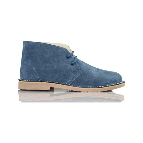 Shoes Hi top trainers Arantxa ARANCHA pisacacas safari unisex leather boot BLUE