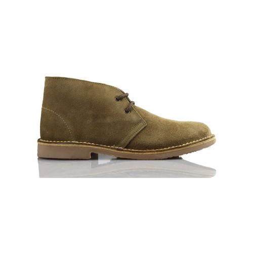 Shoes Hi top trainers Arantxa ARANCHA pisacacas safari unisex leather boot BEIGE