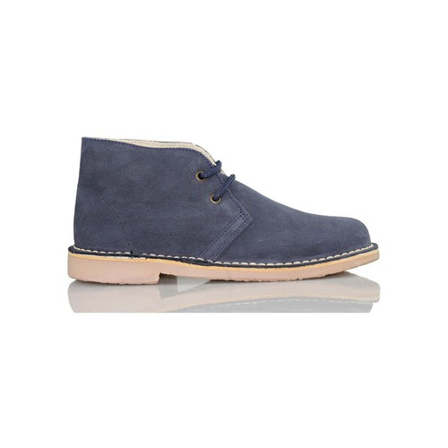 Shoes Hi top trainers Arantxa ARANCHA pisacacas safari unisex leather boot MARINE