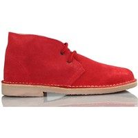 Shoes Hi top trainers Arantxa ARANCHA pisacacas safari unisex leather boot RED