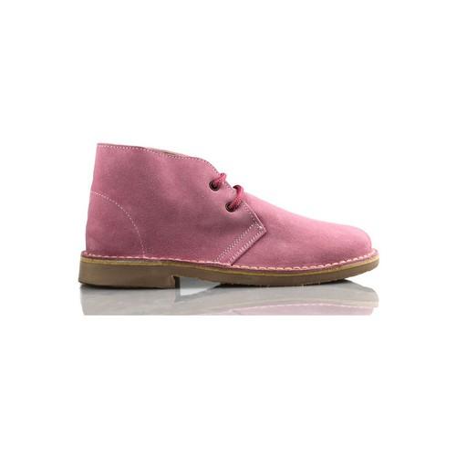 Shoes Hi top trainers Arantxa AR pisacacas safari leather boot PINK