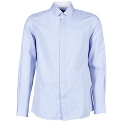 Clothing Men Long-sleeved shirts Hackett SQUARE TEXT MUTLI Blue