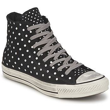 Shoes Women Hi top trainers Converse ALL STAR PRINTED SUEDE HI Black