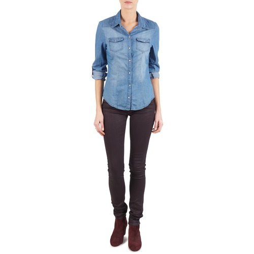 Clothing Women slim jeans Replay LUZ Purple