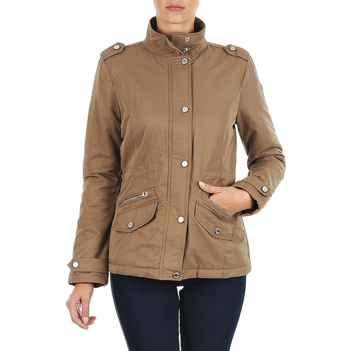 Clothing Women Parkas Napapijri ALMIRA Brown