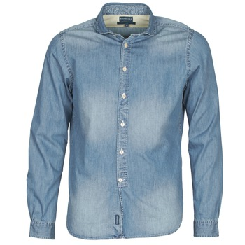 Clothing Men long-sleeved shirts Façonnable PLUSAMO Blue