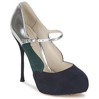 Shoes Women Heels John Galliano AO2179 Black / Grey