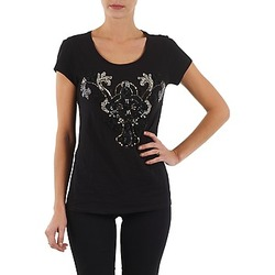 Clothing Women short-sleeved t-shirts S.Oliver T-SHIRT MANCHES COUR Black