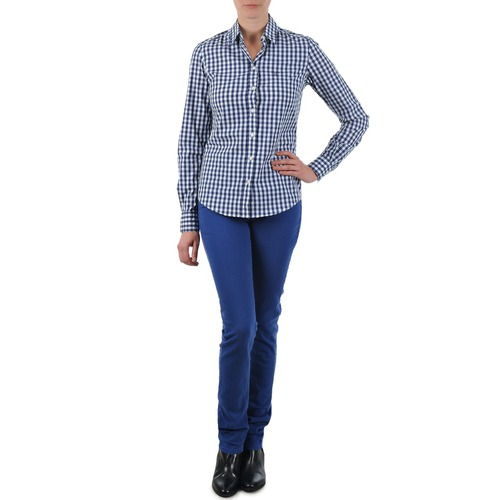 Clothing Women straight jeans Gant N.Y. KATE COLORFUL TWILL PANT Blue