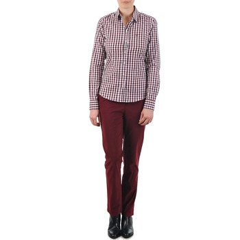 Clothing Women chinos Gant C. COIN POCKET CHINO Bordeaux