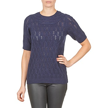 Clothing Women jumpers Gant C. POINTELLE TOP Marine