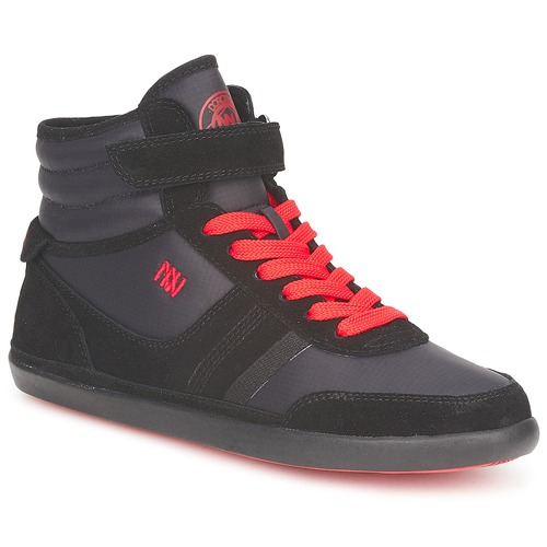 Shoes Women Hi top trainers Dorotennis MONTANTE STREET LACETS + VELCRO Black