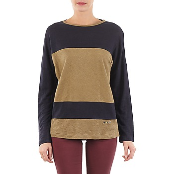 Clothing Women Long sleeved tee-shirts TBS POOL Blue / Beige