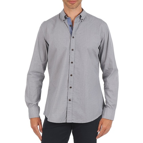 Clothing Men long-sleeved shirts Hackett MEDALLION MULTI BD Blue