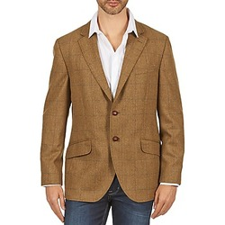 Clothing Men Jackets / Blazers Hackett TWEED WPANE Brown