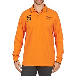 Clothing Men long-sleeved polo shirts Hackett AMR DOUBLE TIP Orange