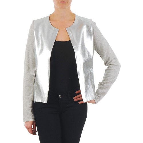 Clothing Women Jackets / Blazers Majestic 93 Grey / Silver