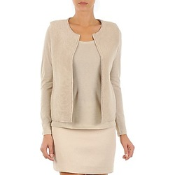 Clothing Women Jackets / Cardigans Majestic 241 Beige