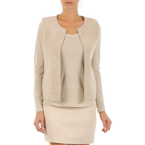Clothing Women Jackets / Cardigans Majestic 241 Beige