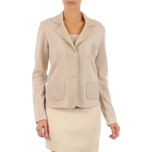 Clothing Women Jackets / Blazers Majestic 244 Beige
