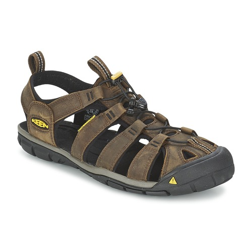 Shoes Men Outdoor sandals Keen CLEARWATER CNX LEATHER Brown / Black