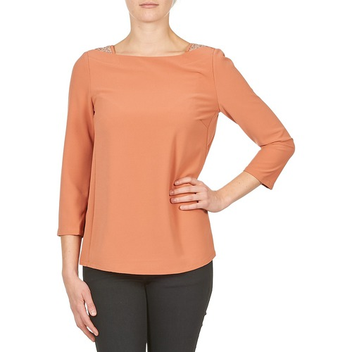 Clothing Women Long sleeved tee-shirts Color Block 3214723 Coral
