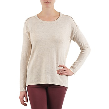Clothing Women jumpers Color Block 3265194 BEIGE