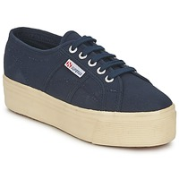 Shoes Women Low top trainers Superga 2790 LINEA UP AND NAVY