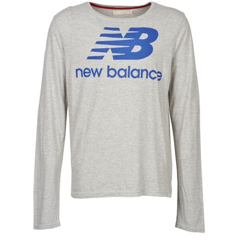 Clothing Men Long sleeved tee-shirts New Balance NBSS1403 LONG SLEEVE TEE Grey
