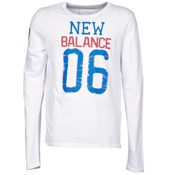 Clothing Men Long sleeved tee-shirts New Balance NBSS1404 GRAPHIC LONG SLEEVE TEE White