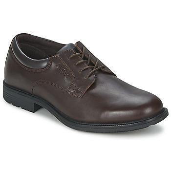 Shoes Men Derby Shoes Rockport ESNTIAL DTL WP PLN Brown / Dark