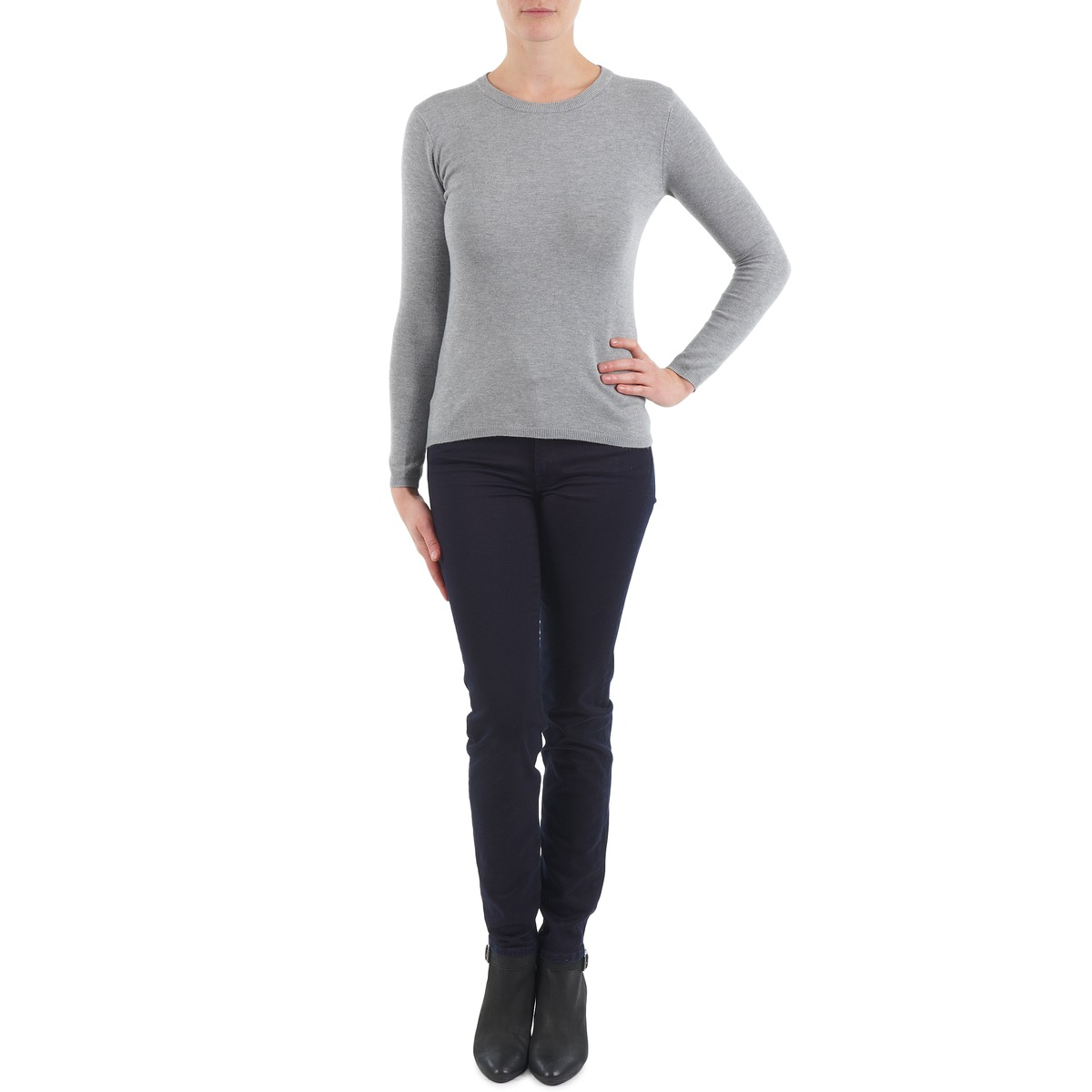7 for all mankind  gummy  women's skinny jeans in black