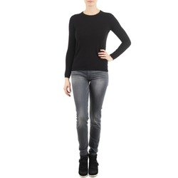 Clothing Women slim jeans 7 for all Mankind THE SKINNY DARK STARS PAVE Grey