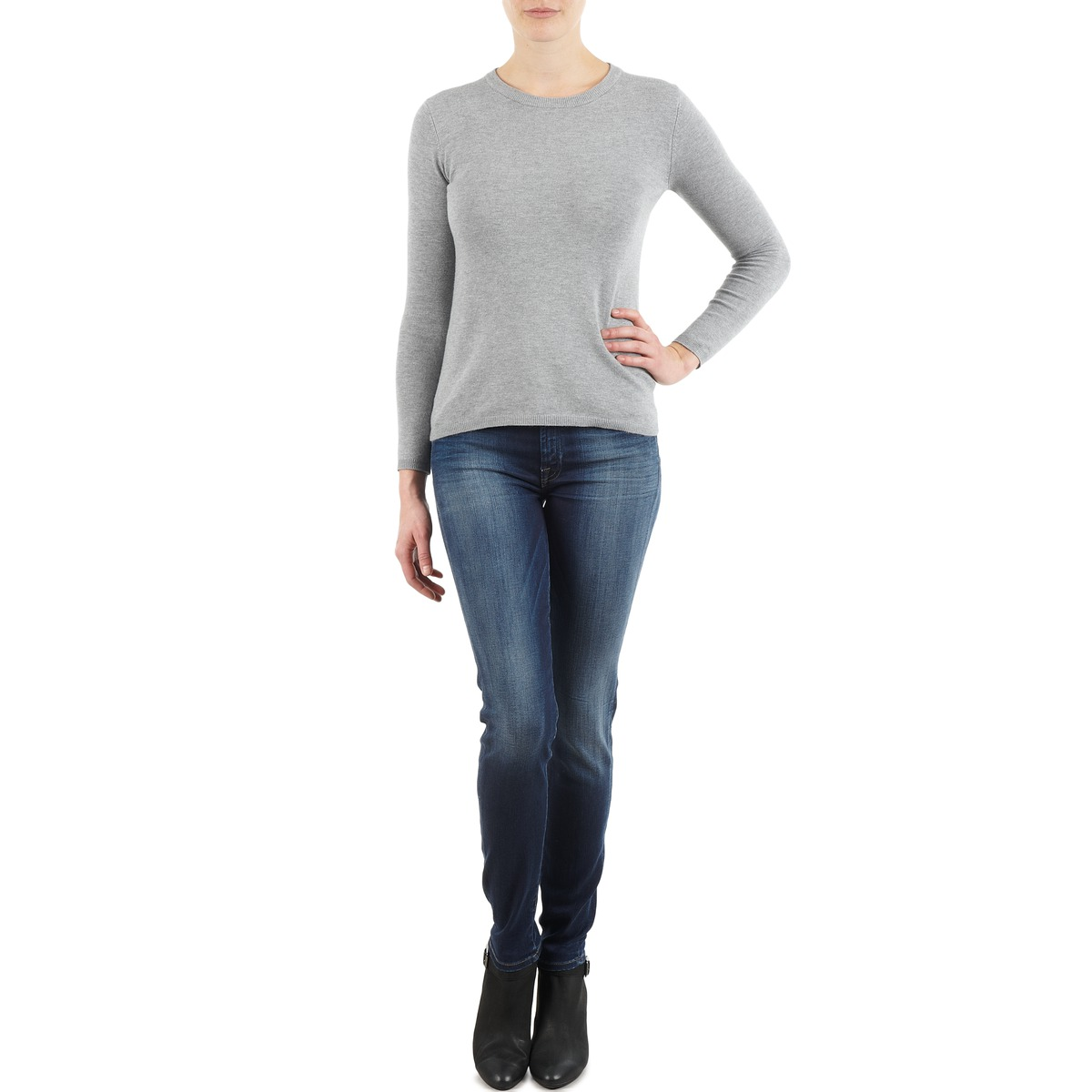 7 for all mankind  the skinny new orl flame  women's skinny jeans in blue