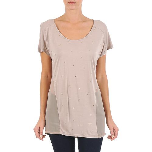 Clothing Women short-sleeved t-shirts La City MC BEIGE Beige