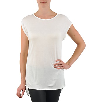 Clothing Women Short-sleeved t-shirts La City TS CROIS D6 White
