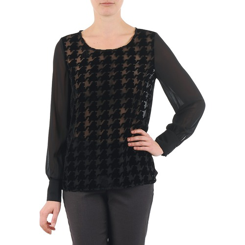 Clothing Women Tops / Blouses La City ML FLOCK P Black